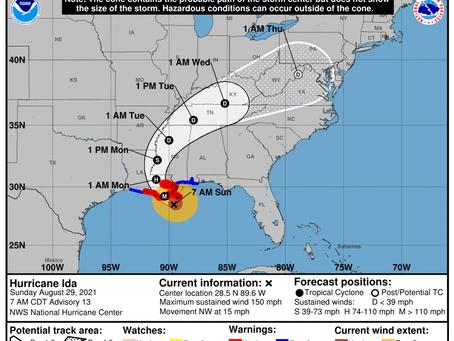 Hurricane Ida Update and FAA NOTAM UAS Operational Guidance