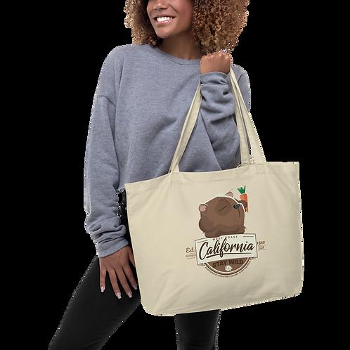 Large organic California tote bag