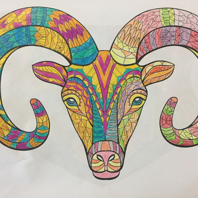 13. Colourful Ram by Shirley