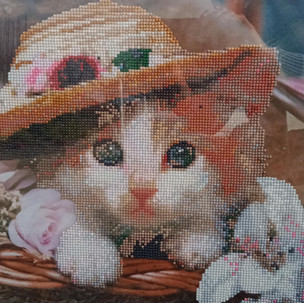 96. Cat with Hat by Roslyn