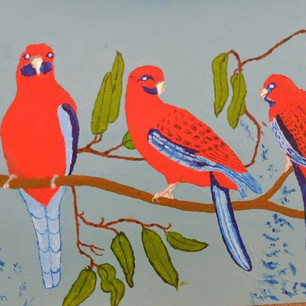 31. Crimson Rosellas by Ian
