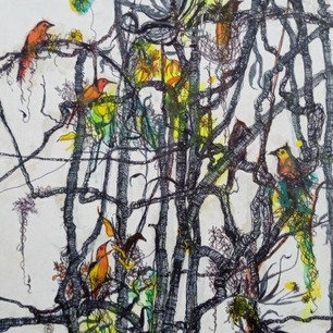 28. The Bird in the Foliage by Garry