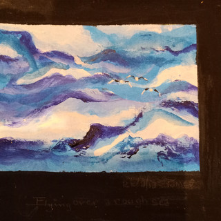 39. Flying Over a Rough Sea by James