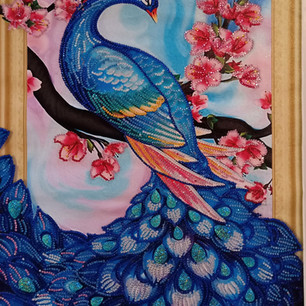 67. Covid- Peacock by Catriona