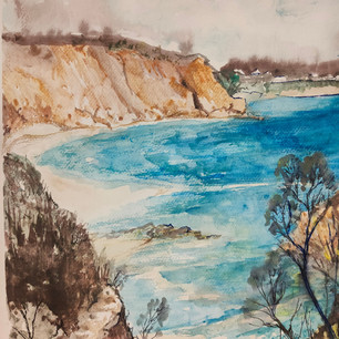 61. Down to Sandringham Beach by Yvonne