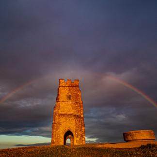 A Rainbow over Glastonbury Tor