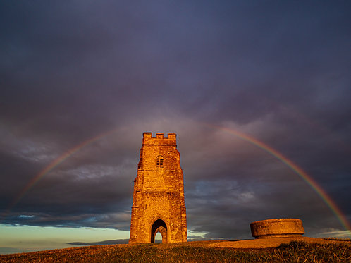 Limited Edition canvas of Rainbow over St Michael's Tower