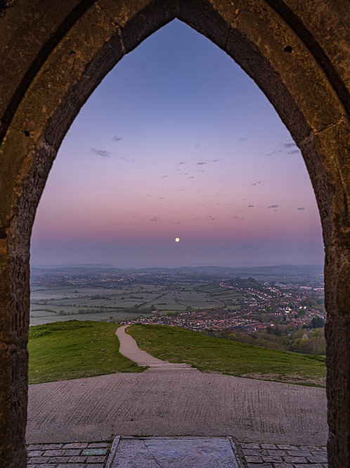 Limited edition canvas of Pink moon through the archway