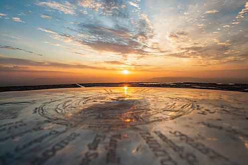 Limited edition canvas of Compass Stone at Sunrise on Glastonbury Tor