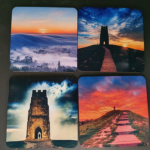 Set of 4 Glastonbury coasters.