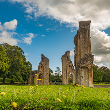 Glastonbury Abbey in the Summer