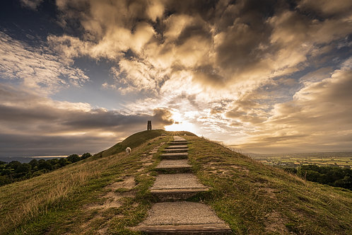 Limited edition canvas of Clouds on Glastonbury Tor