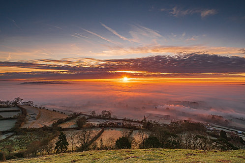 Limited Edition print of Sunrise on a Misty Day