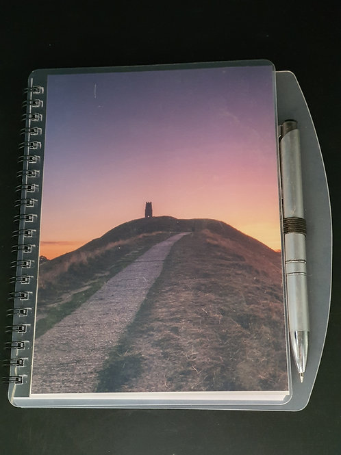Notebook (Glastonbury Tor purple dawn)