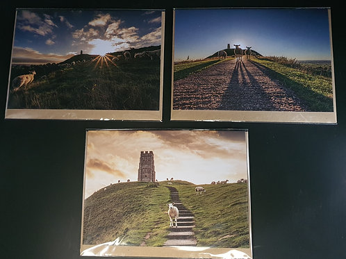 Glastonbury Tor Greetings cards (Collection 3)