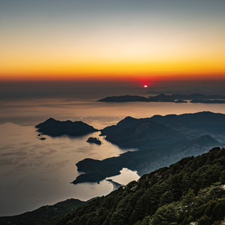 Sunset from Babadag Mountain, Olu Deniz, Turkey.