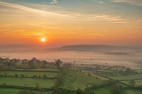 Limited Edition Print of sunrise over the Mists of Avalon.