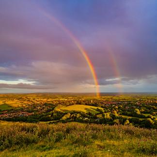 A double Rainbow in Glastonbury