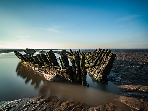 Limited Edition Canvas of Berrow Shipwreck