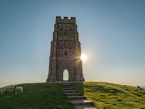 Limited edition canvas of Tower of Strength on Glastonbury Tor