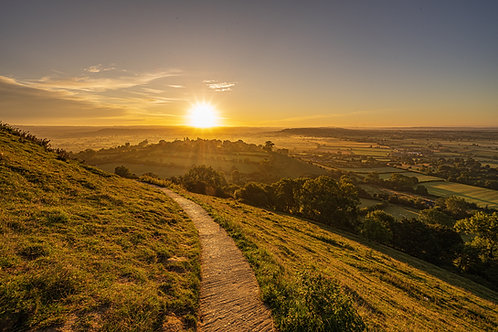 Limited edition canvas of Yellow Brick Road on Glastonbury Tor