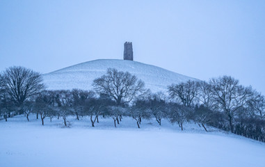 Tor covered in snow.