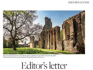 Somerset Life magazine Glastonbury Abbey