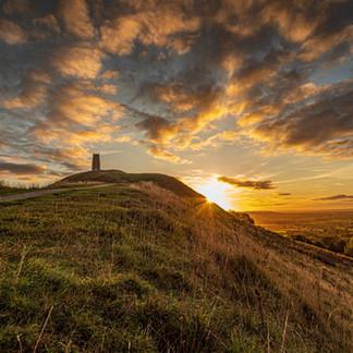 Stunning Sunrise in Glastonbury