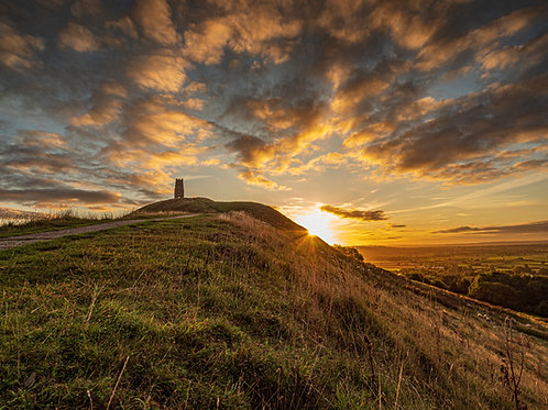 Limited Edition Canvas Sunrise on Glastonbury Tor