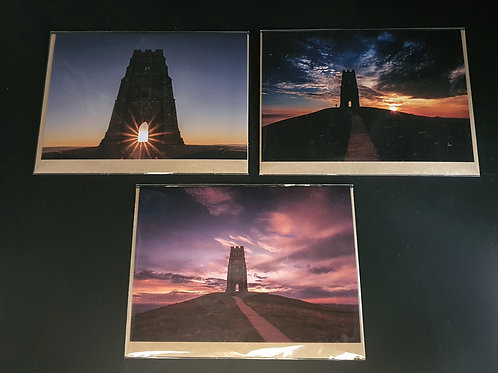 Glastonbury Tor Greetings cards (Collection 1)