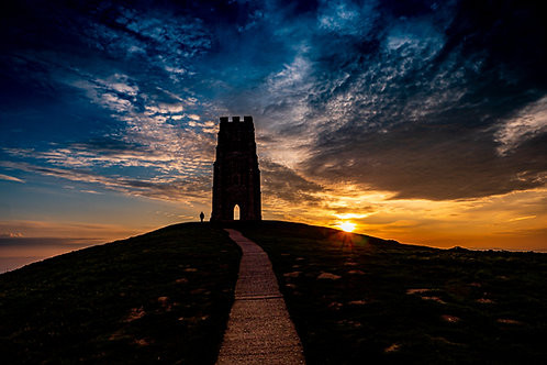 Limited edition canvas of Lockdown Drama at Sunrise on Glastonbury Tor