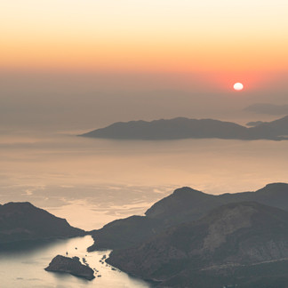 Sunset from Babadag Mountain, Olu Deniz, Turkey