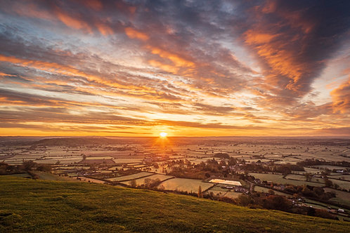 Limited Edition Canvas Sunrise from Glastonbury Tor