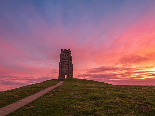 Fire in the sky - Glastonbury Tor