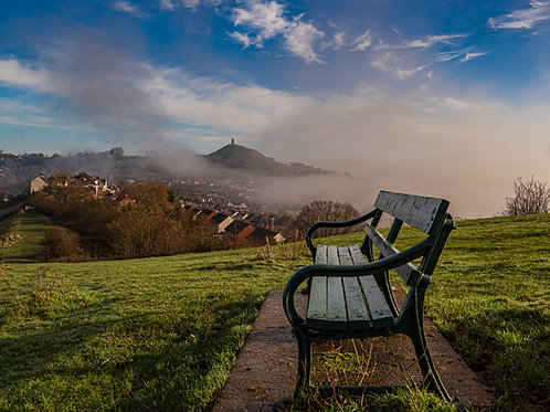Limited Edition Canvas of A bench with a view