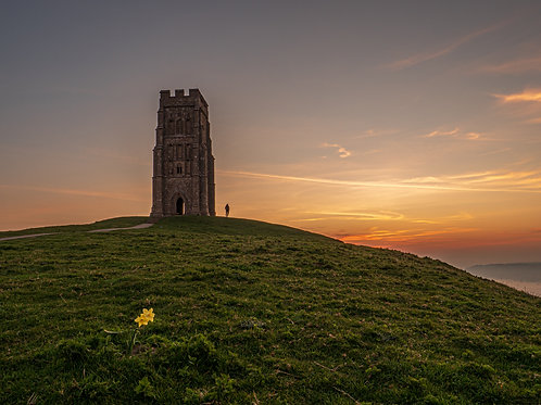 Limited Edition Print of Social Distancing on Glastonbury Tor