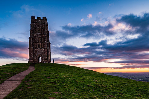 Limited Edition Canvas of Glastonbury Tor before Dawn.