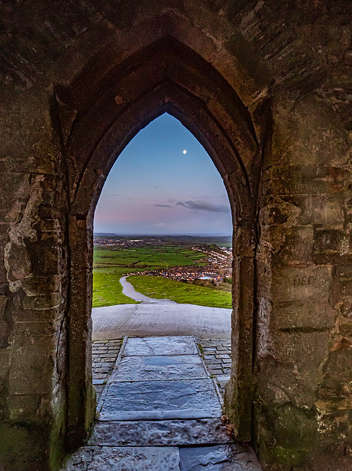 Limited Edition Canvas of Moon through the archway