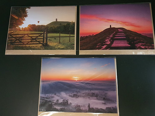 Glastonbury Tor Greetings cards (Collection 5)