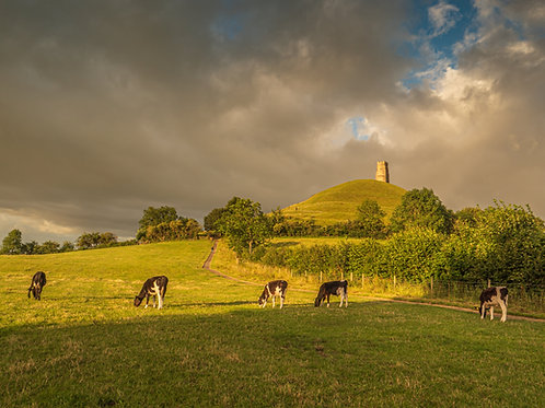 Limited edition print of Morning Light on Glastonbury Tor