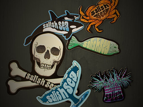 Salish Sea Bundle (All 6 Stickers) - MORE ON ORDER