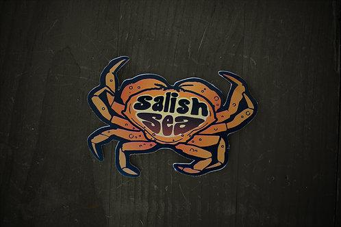 Salish Sea Crab sticker - MORE ON ORDER