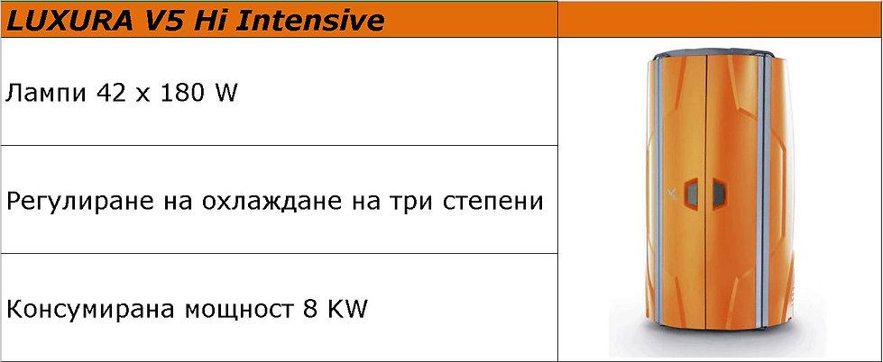 вертикален солариум LUXURA V5 Hi Intensi