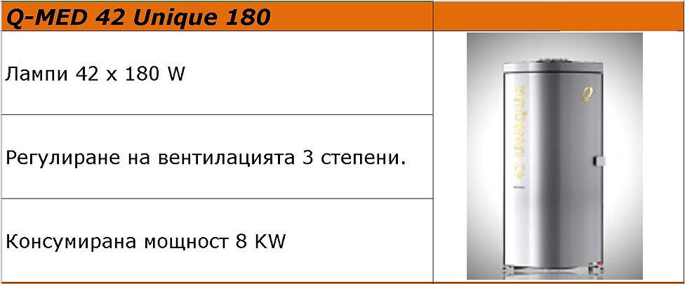 вертикален солариум Q-MED 42 Unique 180.