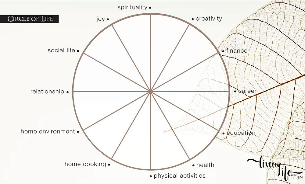 work with me on how to balance your circle of life through holistic coaching