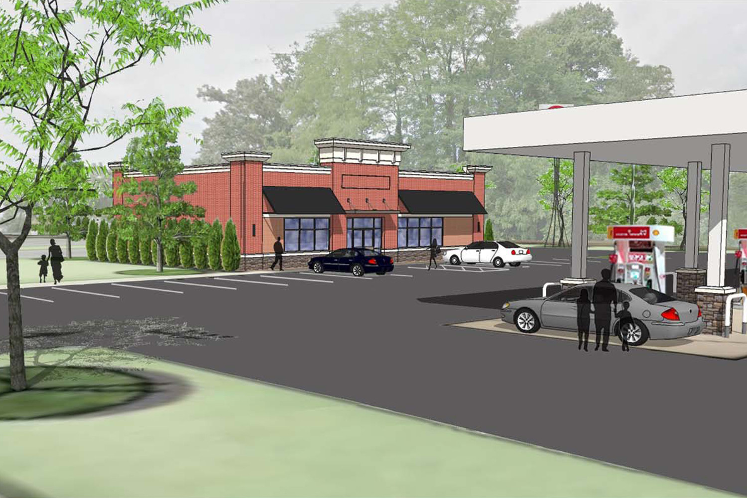 Proposed Convenience Store Gas Station
