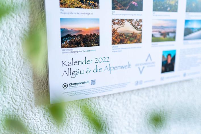 klimaneutral Allgäu und die Alpenwelt Kalender 2022
