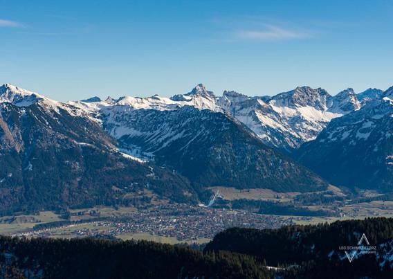 Winterliche Stimmung über Oberstdorf