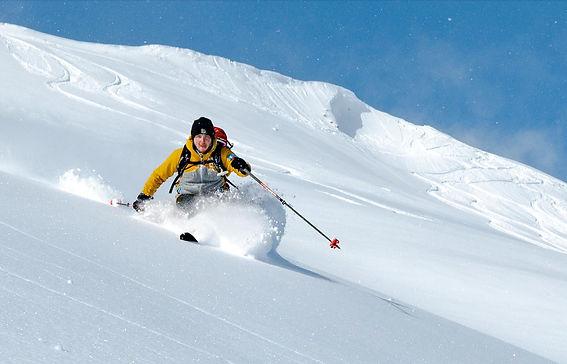 Skitour Abfahrt Guentlespitze im Kleinwa