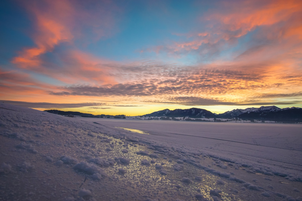 frozen lake Forggensee